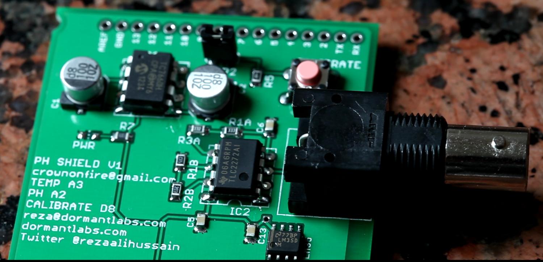 Arduino PH Shield de Dormant Labs (versión económica sin pines soldados)