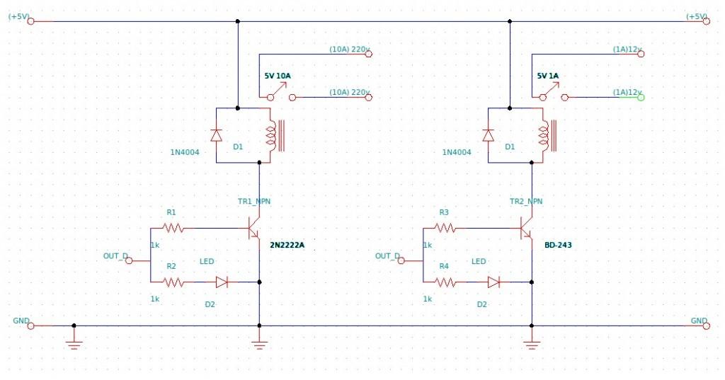 Reles de 5v para Arduino