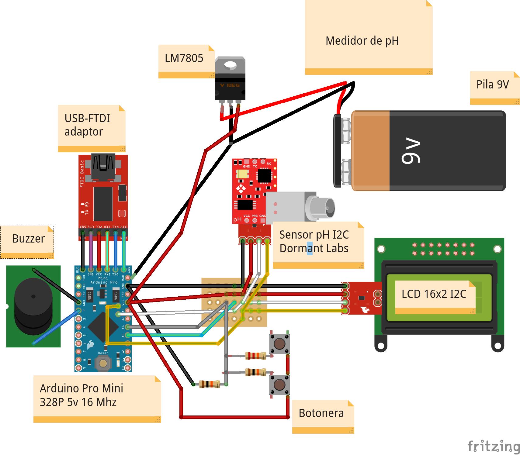 Medidor de ph con arduino pro mini y sensor de dormant for Medidor ph tierra
